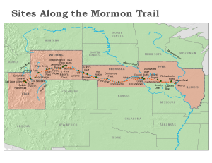 sites along the mormon trail