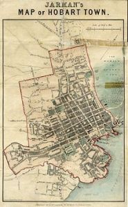 Map Hobart town