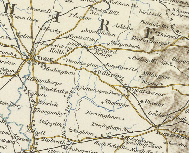 Wilberfoss map